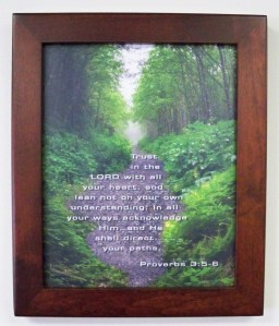 Beautiful photo frame of Proverbs 3:5-6 bible verse nature image free download Christian pictures